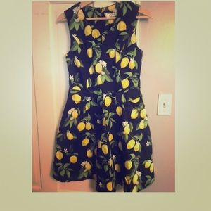 Chetta B lemon print dress